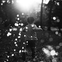 Child (4-5) playing outside