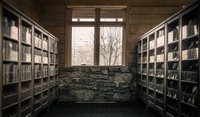 Interior of old library, Arkansas, USA