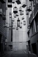 Bird cages hanging in street, Sydney, New South Wales, Australia 11098023733| 写真素材・ストックフォト・画像・イラスト素材|アマナイメージズ