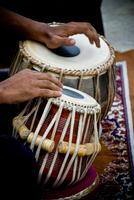 Human hands playing tabla, Bangalore, Karnataka, India