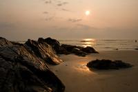 Beach at sunset, Ogunquit, Maine, USA