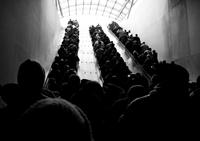 Crowded subway station, Washington DC, USA
