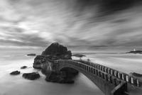 Arch Bridge and cloudscape, Biarritz, France