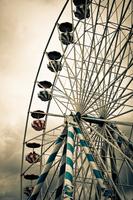 Close-up of ferris wheel, Blois, France