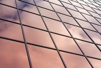 Clouds reflecting on facade, Calgary, Canada