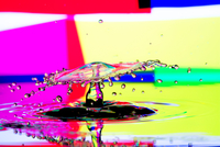 Colorful water splash