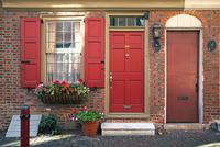 Exterior of house, Philadelphia, Pennsylvania, USA 11098027154| 写真素材・ストックフォト・画像・イラスト素材|アマナイメージズ