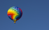 Colorful balloon flying in air