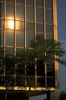 Solar reflection on office building
