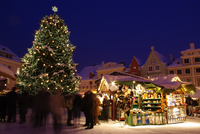Christmas market in Tallinn, Harju County, Estonia