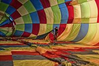Man inside balloon