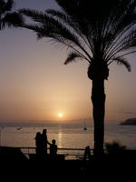 Scenic sunset over sea