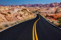 Road between rocks, Valley of Fire, Las Vegas, Nevada, USA