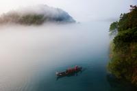 Dong Jiang Riverin fog, China