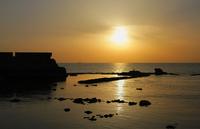 Seascape at sunset, Akko, Israel