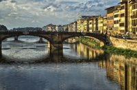 Arch bridge over Arno river, Florence, Italy