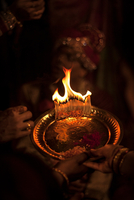 Indian wedding pooja ritual, Mumbai, India