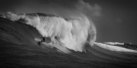 Surfer and big wave, South Africa