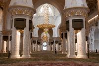 Main prayer hall in Sheikh Zayed Grand Mosque, Abu Dhabi, United Arab Emirates