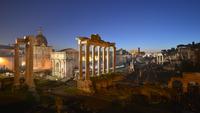 Roman Forum at dusk, Rome, Italy