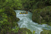 People water rafting, Cascata delle Marmore, Terni, Umbria, Italy