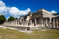 Ruins of Temple of the Warriors, Chichen Itza, Yucatan, Mexico