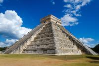 Exterior of El Castillo pyramid, Chichen Itza, Yucatan, Mexico