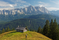 Wooden cabin in mountains, Bavaria, Germany