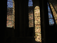 Stained glass windows in church, Limousin, France