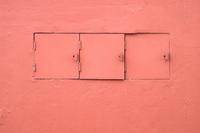 Pink utility doors