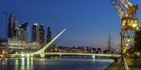 Illuminated bridge, Puerto Madero, Buenos Aires, Argentina