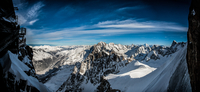 Mountain range in snow, Chamonix-Mont-Blanc, Upper Savoy, France