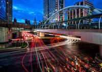 Lights of city, Bangkok, Thailand