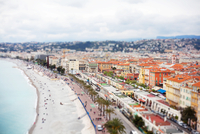 Aerial view of Promenade des Anglais, Nice, France