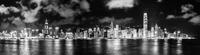 Illuminated cityscape, Hong Kong, China