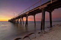 Jetty at sunset, Largs Bay, Adelaide, Australia