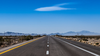 Empty desert road, Las Vegas, Arizona, USA