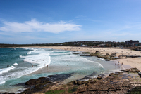 Fun time in water and on beach, Maroubra, New South Wales, Australia