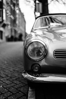 Close up of old car, Amsterdam, Netherlands