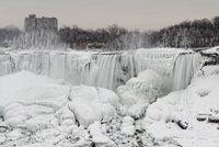 Niagara Falls in winter, New York State, USA