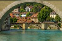 Old town across river, Bern, Switzerland