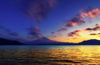 Mount Fuji at sunset, Honshu Island, Japan