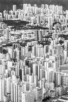 Aerial view of Hong Kong skyscrapers, Hong Kong, China