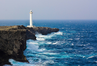Lighthouse on cliff, Okinawa, Japan