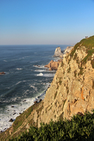 Cliff of Cape Roca under clear sky in Sintra-Cascais Natural Park, Lisboa Region, Portugal