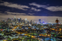 Illuminated city, Los Angeles, California, USA