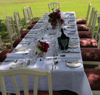 Table set for meal outdoors