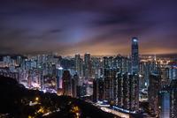 City at night, Hong Kong, China