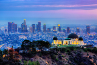 Griffith Observatory with cityscape in background, Los Angeles, California, USA 11098041860| 写真素材・ストックフォト・画像・イラスト素材|アマナイメージズ