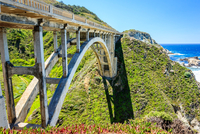 Landscape with Rocky Creek Bridge, Big Sur, California, USA